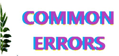 COMMON ERRORS-English